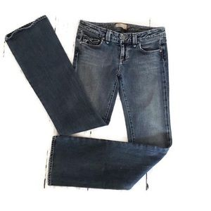 Paige Pico Boot Cut Blue Jeans